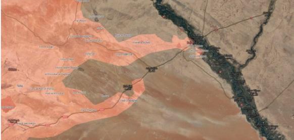 Тогда целями были городки Кобаджеб и Аш Шола, которые еще удерживали боевики, но г Дейр -эз -зор уже рядом