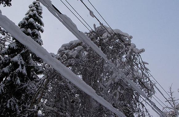 ВЛ, ремонт, снег