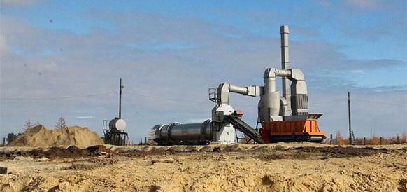 Установка для термической утилизации замазученных грунтов