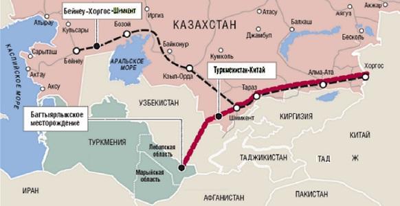 Туркмения постоянно наращивает объемы поставок газа в Китай, консолидируя этим проектом страны-соседи