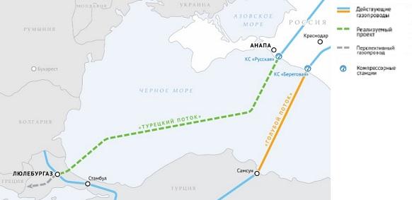 Газпром на мелководье начал строительство морского участка газопровода Турецкий поток