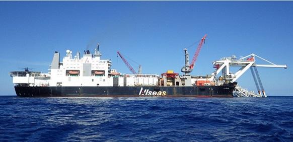 судно - трубоукладчик Audacia компании Allseas - подрядчика строительства 2х ниток морского участка газопровода