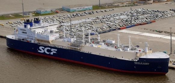 танкер Кристофер де Маржери в порту Бронка