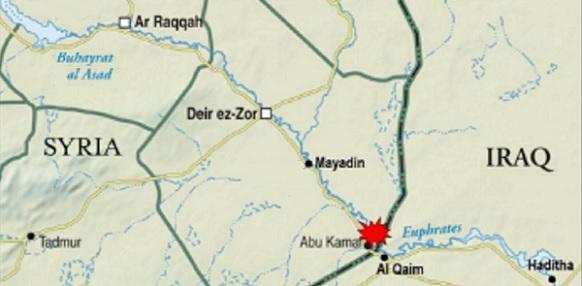 Через г Абу -Камаль проходит важнейший сухопутный переход в Ирак