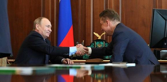 В. Путин доволен будущим началом работ на морском участке газопровода Турецкий поток