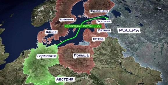 «Газпром» пустит «Северный поток-2» вобход Дании, выступившей против возведения трубы