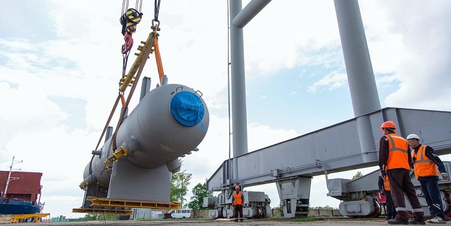 На строящийся этиленовый комплекс Нижнекамскнефтехима поступила 1-я партия крупногабаритного оборудования Linde