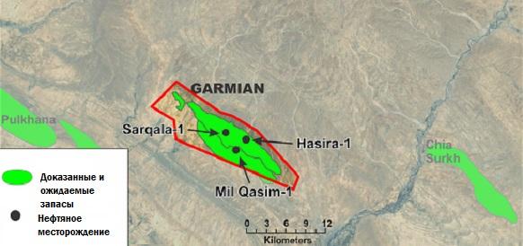 Газпром нефть: Скважина Sarqala-2 на блоке Garmian в Иракском Курдистане будет готова к концу 2018 г