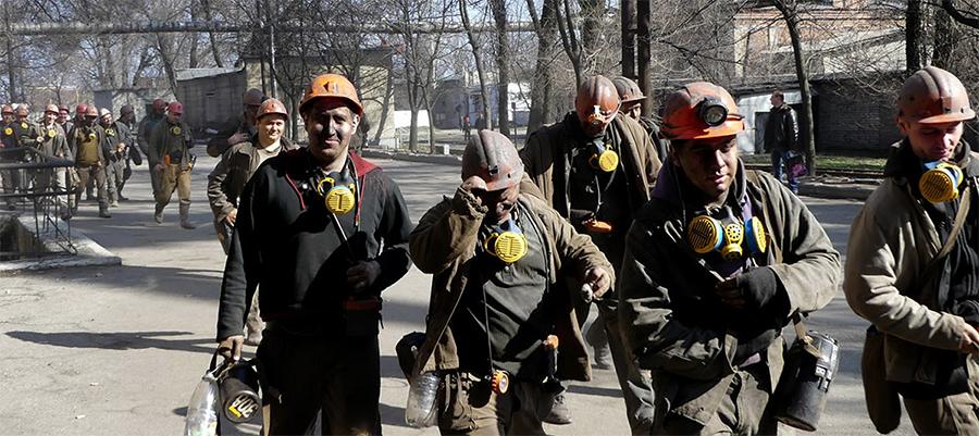 Донбасские горняки протестуют из-за долгов по зарплате