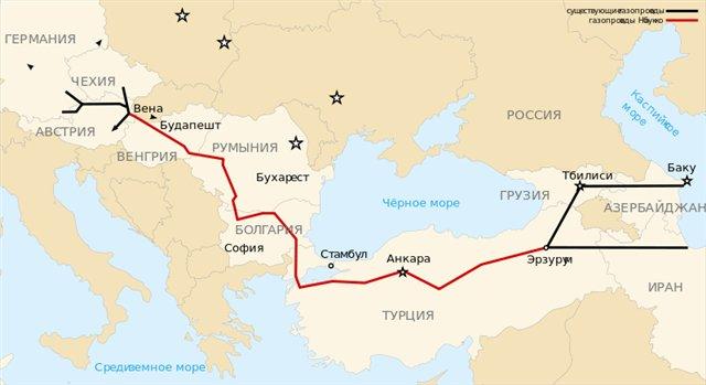 Названы сроки выхода газопровода TANAP на максимальную проектную мощность