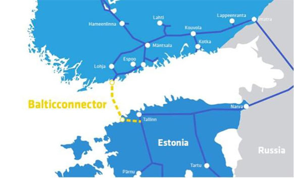 Finland and Estonia to build first gas pipeline between 2 countries