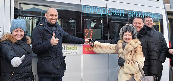 Поехали! Л. Неганов дал отмашку пилотному проекту по внедрению пассажирского электротранспорта в Московской области