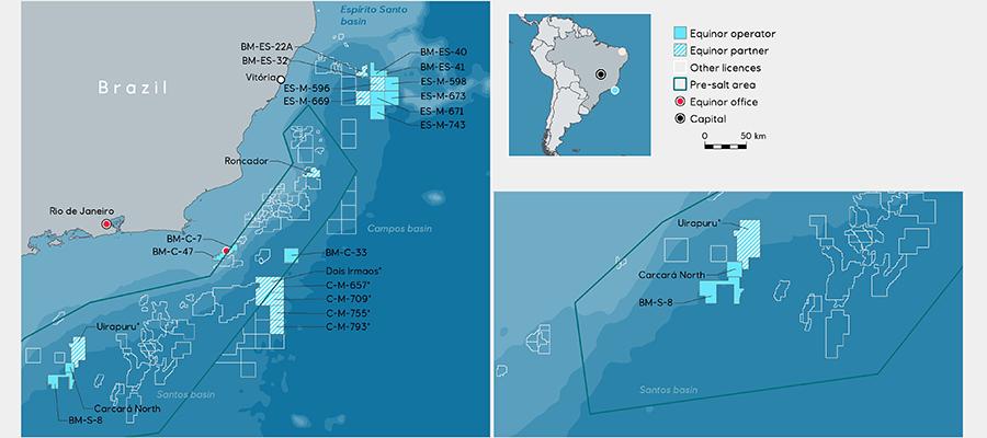 Все ровно. Equinor завершила балансировку долей участия по 2 блокам в рамках бразильского проекта Каркара