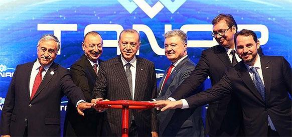 Presidents of Turkey, Azerbaijan and Georgia inaugurated the Trans Anatolian Natural Gas Pipeline (TANAP)