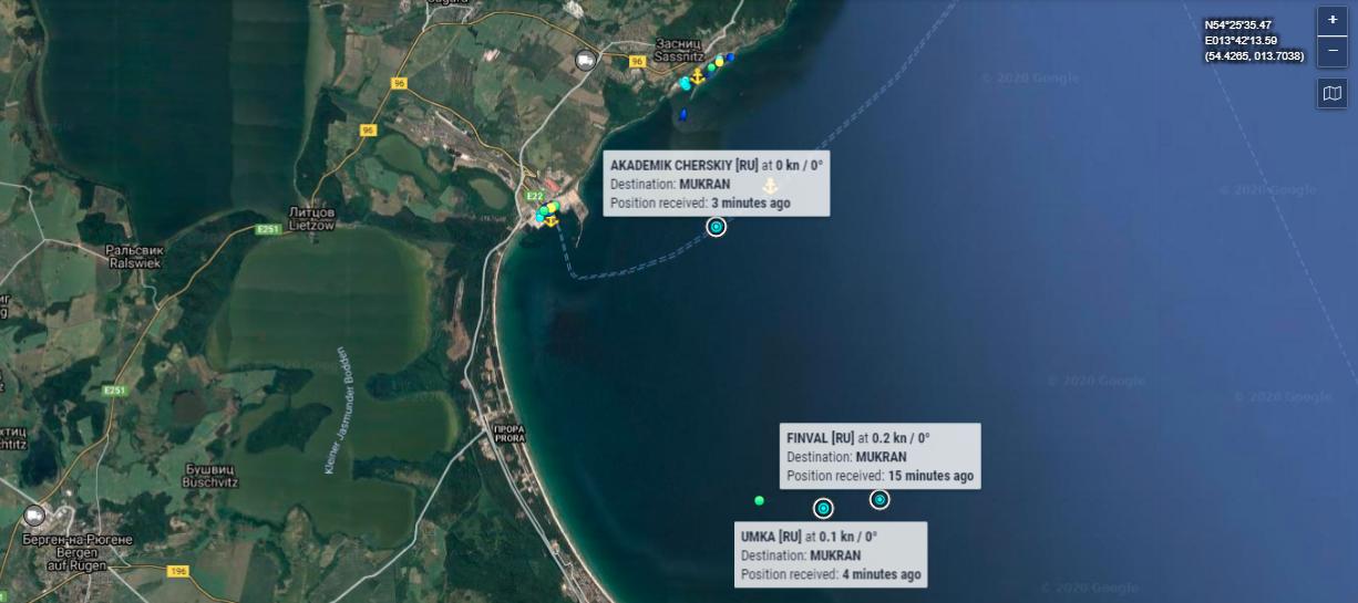 Последняя пауза? Суда потенциального флота Северного потока-2 встали на якорных стоянках в районе порта Мукран