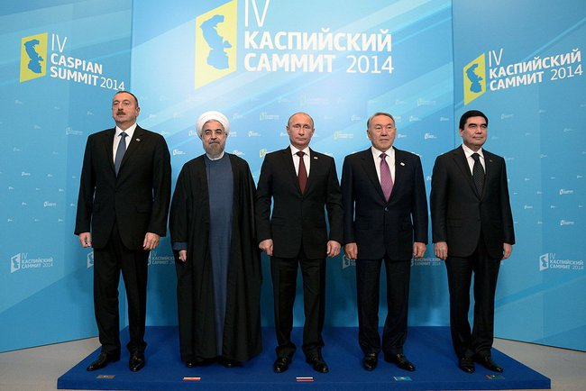 В. Путин выступил на встрече глав государств-участников IV Каспийского саммита