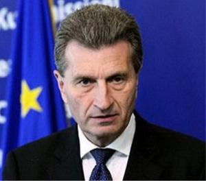 Г. Эттингеру приятно видеть Азербайджан на энергетическом рынке ЕС