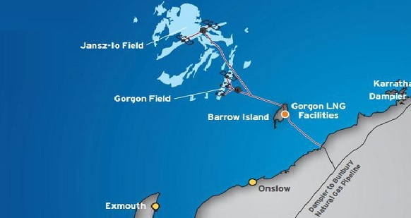 Chevron начала производство СПГ на проекте Горгона в Австралии