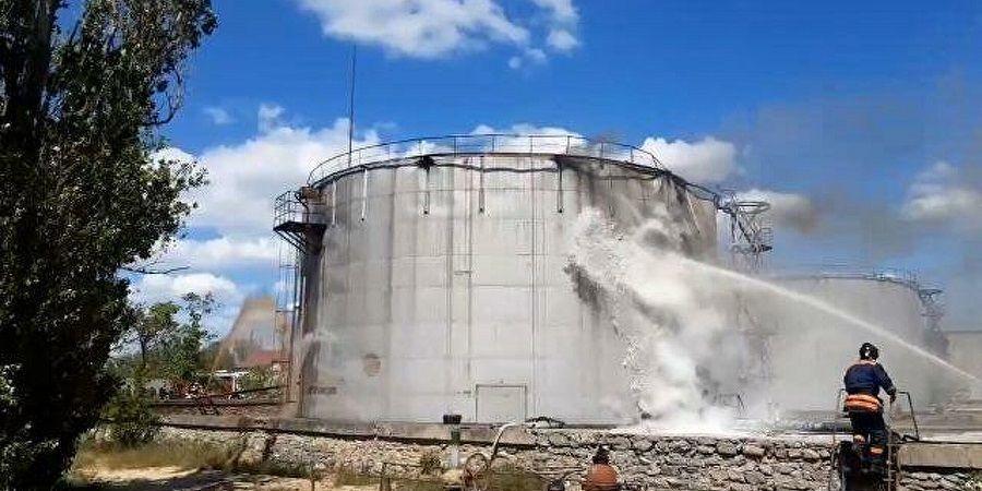 Пожар в резервуаре с мазутом в Дагестане потушили