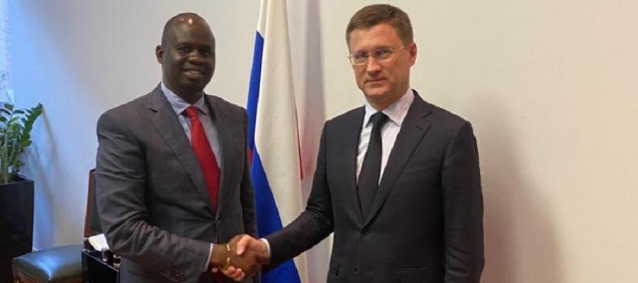 А. Новак провел встречу с послом панафриканского парламента А. Абоугом