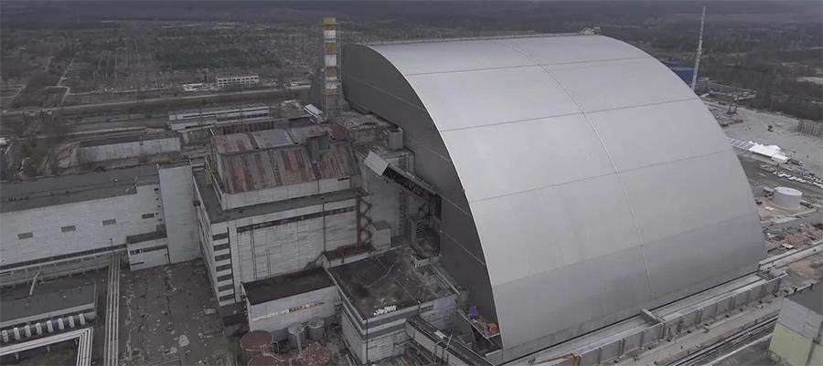 Введена в эксплуатацию арка над 4-м энергоблоком Чернобыльской АЭС