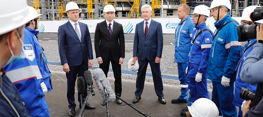 Opening of Euro+ combined oil refining unit at Moscow Refinery