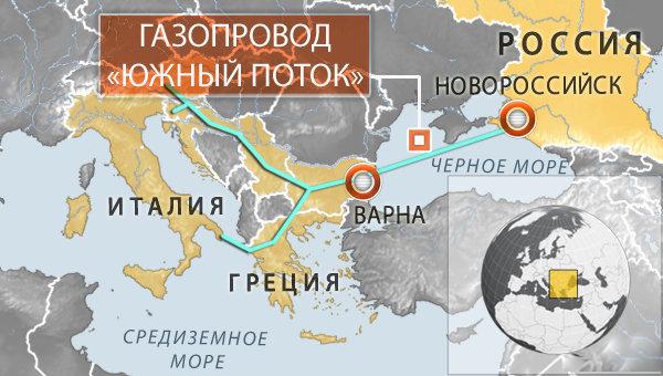 Строительство морской части Южного потока начнется в Краснодарском крае на этой неделе