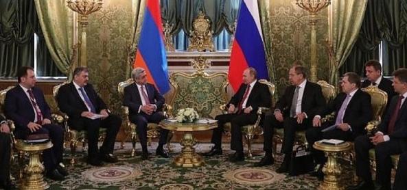А. Новак поучаствовал в переговорах В. Путина и главы Армении С. Саргсяна. Все прошло удачно