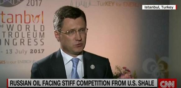 Interview of Alexander Novak to CNN TV