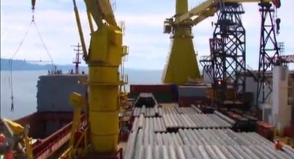Строительство морского участка газопровода Лазаревское -Сочи