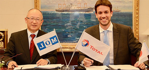 Total and Mitsui O.S.K. Lines sign a long-term charter contract for a pioneer LNG bunker vessel