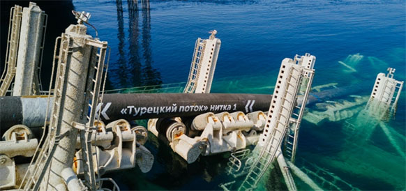Turkish Stream gas pipeline's offshore section 95% completed