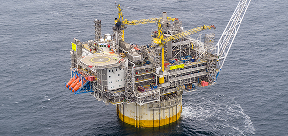 Equinor started production from the Aasta Hansteen gas field in the Norwegian Sea