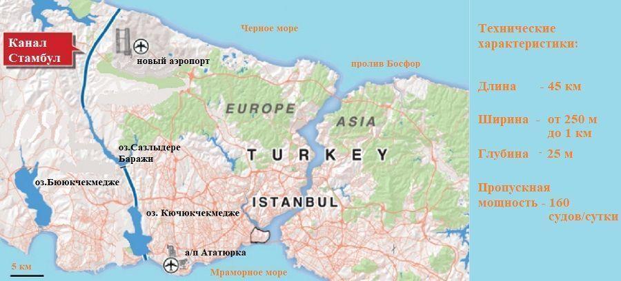 Р. Эрдоган начнет строительство канала Стамбул в конце июня 2021 г.