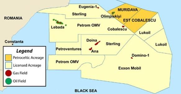 Начиная с 2020 г Румыния рассчитывает добывать в глубоководной части Черного моря до 10 млрд м3 газа