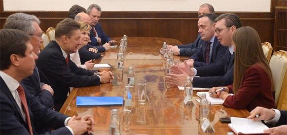 Gazprom delegation visited Serbia