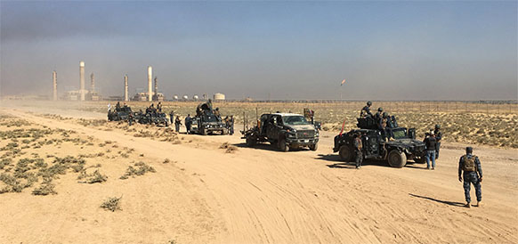 Iraq military captures oil fields outside Kirkuk from Kurdish forces
