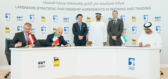 ADNOC signs landmark strategic partnership agreements with Eni and OMV in refining and trading