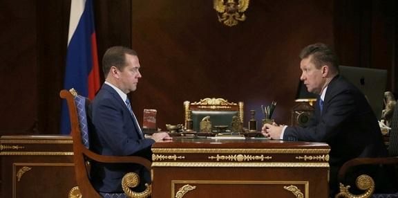 Миллер - Медведеву. К 1 января 2018 г Газпром намерен выйти на средний уровень газификации по России – 68,1%