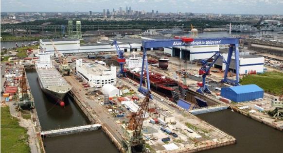 В США на судоверфи Philly Shipyard началось строительство судов-контейнеровозов на СПГ
