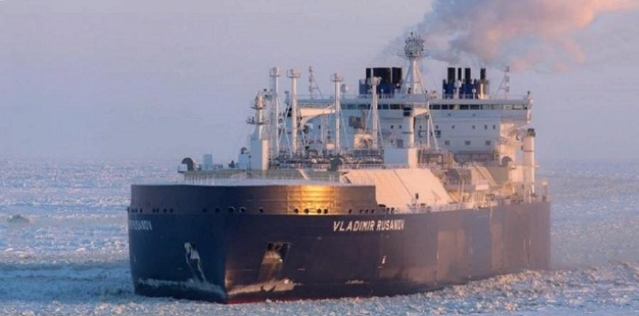 16 дней. Танкер-газовоз Владимир Русанов доставил 1-ю партию СПГ в Китай в нынешнюю навигацию по Севморпути