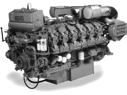 Судовой дизельный двигатель