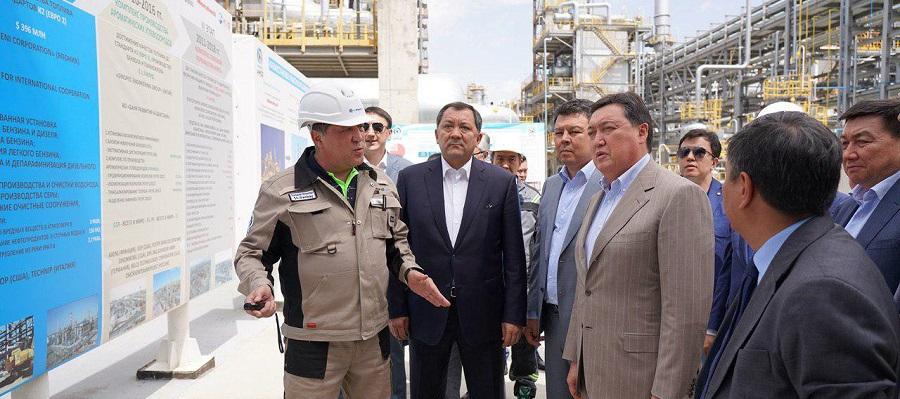 Премьер-министр Казахстана посетил Атырауский НПЗ. Завод выйдет на проектную мощность в конце июля 2019 г.