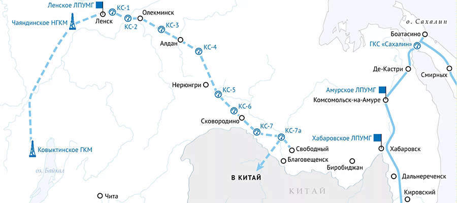 Суточный объем поставок газа из России в Китай по Силе Сибири-1 превысил контрактный. Впервые