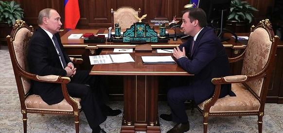 Врио губернатора НАО рассказал В. Путину, как регион пережил падение нефтяных доходов