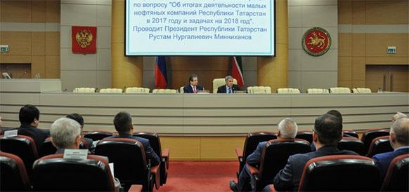 Добыча нефти в республике Татарстан в 2017 г увеличилась на 1%, до 35,845 млн т