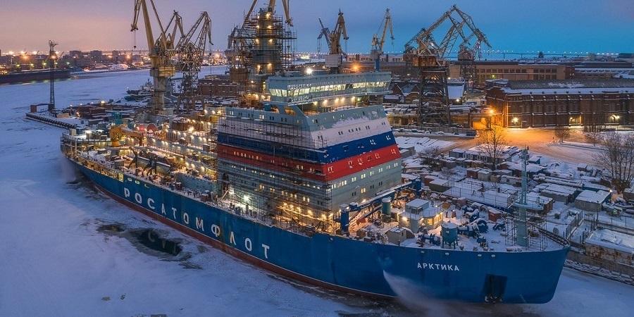 Ходовые испытания ледокола «Арктика» завершатся в сентябре 2020 г.