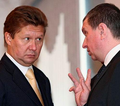 А.Миллер и И.Сечин пишут письма В. Путину. Хотя могут и запросто поговорить с ним