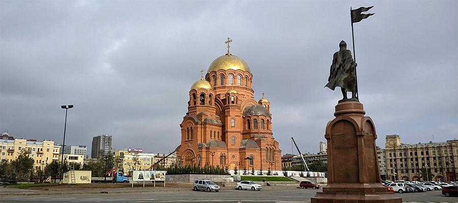 В г. Волгоград реконструирован подземный газопровод рядом с храмом Александра Невского