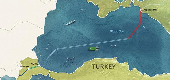 Соединяя сушу и море. В Турции начались работы по строительству участков берегового примыкания газопровода Турецкий поток